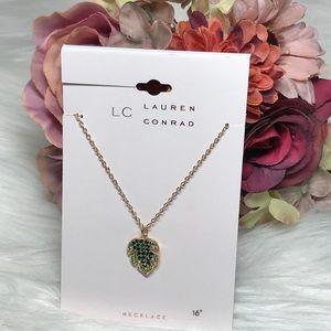 """Lauren Conrad Palm Frond 16"""" Necklace Pendant NWT"""